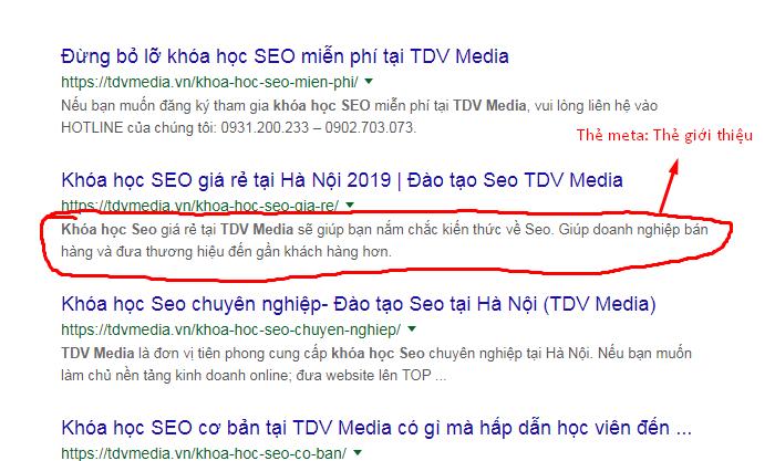 Thẻ meta chuẩn content seo