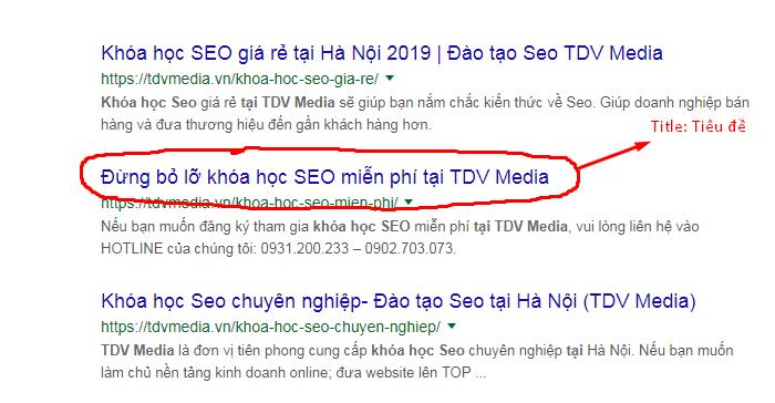 Tiêu đề viết content chuẩn seo